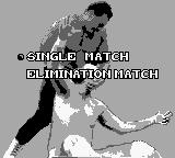 WCW Wrestling: The Main Event Game Boy Match selection