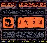 The Mummy Returns Game Boy Color Character selection