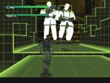 Metal Gear Solid Windows VR Missions: Snake protects Meryl from a pair of seriously oversized GENOME soldiers