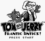 Tom and Jerry: Frantic Antics! Game Boy Title screen
