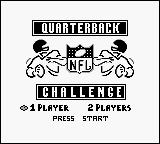 NFL Quarterback Club Game Boy Title screen