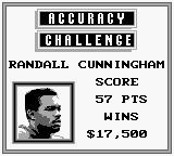 NFL Quarterback Club Game Boy Score