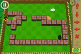 Black Sheep iPhone In some levels, the player has to guide the black sheep over concrete blocks to the exit.
