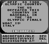 Jeopardy! Sports Edition Game Boy :--(