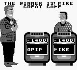 Jeopardy! Sports Edition Game Boy An impressive game reveals the winner.
