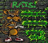 Rats! Game Boy Color Main menu, Spanish