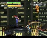 Strider 2 PlayStation Fight on the flying cars