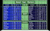 R.B.I. Baseball 2 Atari ST Line up selections.