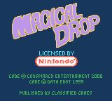 Magical Drop III Game Boy Color Title screen and copyright info