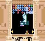 Magical Drop III Game Boy Color I placed it so as to clear some spheres.