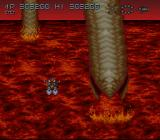 Axelay SNES Stage 5 - Dodging a giant worm
