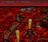 Axelay SNES Dodging the flames