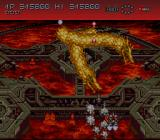 Axelay SNES Two dragons attack