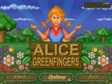 Alice Greenfingers Windows Title Screen and main menu