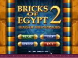 Bricks of Egypt 2: Tears of the Pharaohs Windows Title and main menu screen