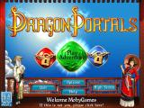 Dragon Portals Windows Title screen and main menu. Two game modes are locked until later.