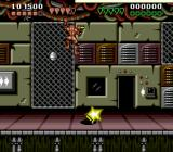 Battletoads & Double Dragon: The Ultimate Team Genesis Semi-boss battle: pick up the dynamite sticks and throw them at the hiding enemy