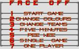 Face-Off Atari ST Main menu.