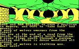 Jewels of Darkness DOS Starting screen for Adventure Quest (CGA 4-color)