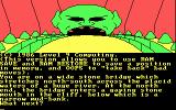 Jewels of Darkness DOS Starting screen for Dungeon Adventure (CGA 4-color)
