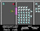 Gauntlet DOS The second level - good thing there's a magic potion here (EGA)