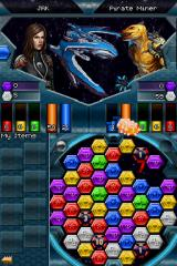 Puzzle Quest: Galactrix Nintendo DS Fighting the enemy