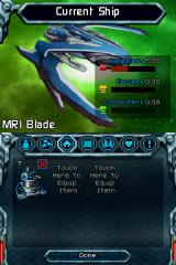 Puzzle Quest: Galactrix Nintendo DS Ship's stats