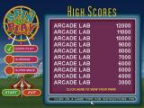Spin & Play: Carnival Madness Windows High Scores and main menu