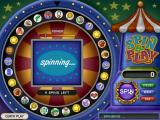 Spin & Play: Carnival Madness Windows Spinning the wheel to select a mini-game
