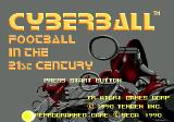 Cyberball Genesis Title screen
