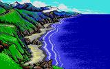 California Games II Atari ST Flying above coast.