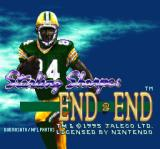 Sterling Sharpe: End 2 End SNES Title screen