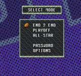 Sterling Sharpe: End 2 End SNES Main menu