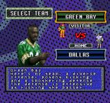 Sterling Sharpe: End 2 End SNES Select the teams