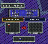 Sterling Sharpe: End 2 End SNES Choose which team to play as