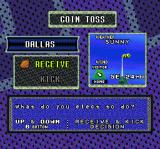 Sterling Sharpe: End 2 End SNES Choose whether to receive or kick