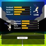 Tennis Game Browser Exhibition mode: Choose your level of competition.