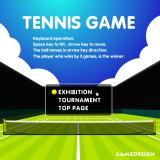 Tennis Game Browser Title screen and main menu