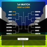 Tennis Game Browser Tournament mode: I chose Steffi Graf instead, Chris Evert in the 1st round isn't the easiest draw.