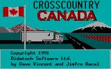 Crosscountry Canada DOS Title Screen