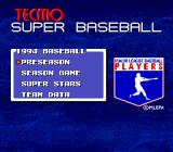 Tecmo Super Baseball Genesis Main menu