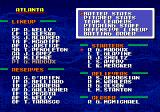 Tecmo Super Baseball Genesis Team data