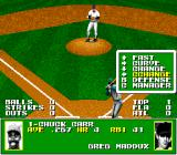 Tecmo Super Baseball Genesis Choose a type of pitch to throw.