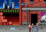 Double Dragon Genesis Squeezed between two bad guys