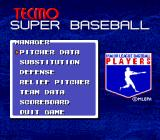Tecmo Super Baseball Genesis In-game options while pitching