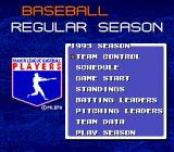 Tecmo Super Baseball Genesis Season options