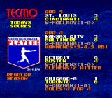 Tecmo Super Baseball Genesis Scores from the regular season