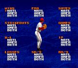 Tecmo Super Baseball Genesis All the pitching categories the game keeps track of.