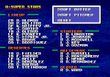 Tecmo Super Baseball Genesis Draft players to form the all-star team.