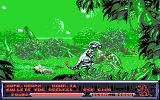 Metal Mutant DOS Dinos fighting swamp things (EGA)